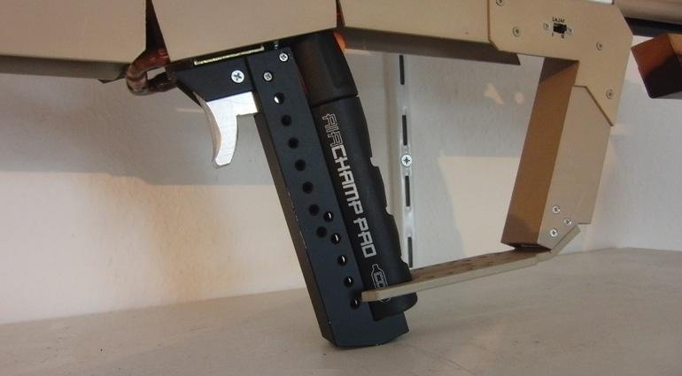 Bricolaje rifle de francotirador disparando alfileres2