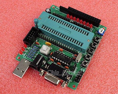 WonderfullshopDIY Learning Board Kit Piezas y componentes Placa de desarrollo MCU C51 / AVR