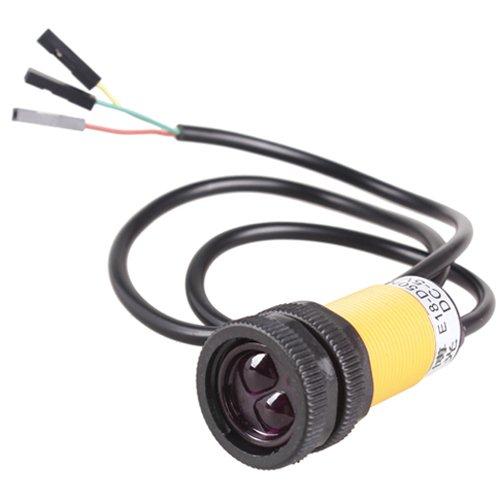 Enjoydeal Sensor fotoeléctrico con interruptor de proximidad infrarrojo ajustable