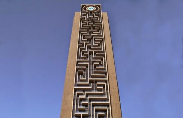 La torre del laberinto es el laberinto vertical más grande del mundo en Dubai
