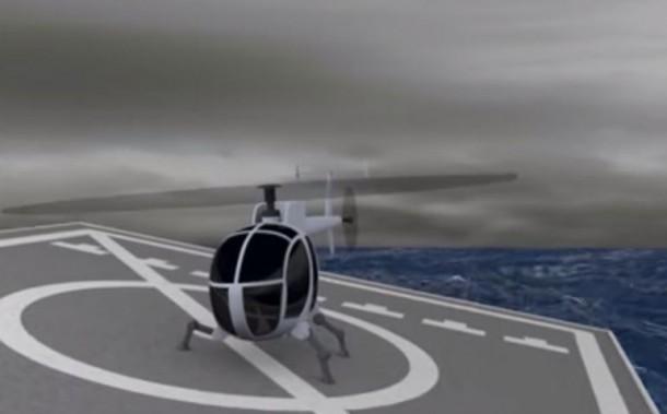 DARPA demuestra tren de aterrizaje robótico para helicópteros 3