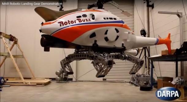 DARPA demuestra tren de aterrizaje robótico para helicópteros 4