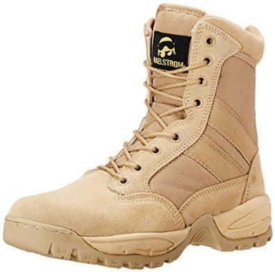 Zapatos de trabajo tácticos con cremallera de 8 pulgadas para hombres Maelstrom Tac Force para ingenieros
