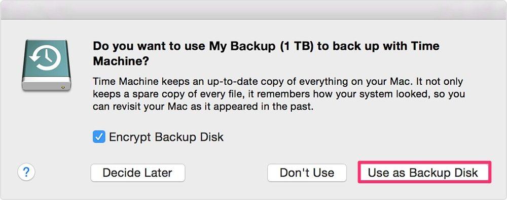 Copia de seguridad de Mac con Time Machine