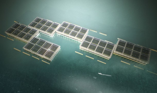 La granja solar flotante es capaz de producir 8 toneladas de verduras por año 7