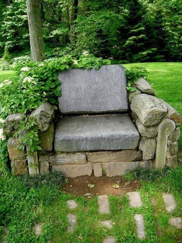 26 increíbles ideas para sentarse al aire libre 16