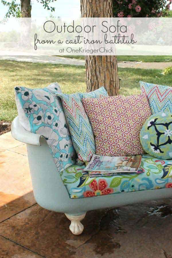 26 increíbles ideas para sentarse al aire libre 7