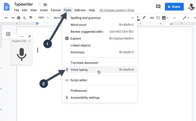 Aumente su productividad con la función de entrada de voz en Google Docs 2
