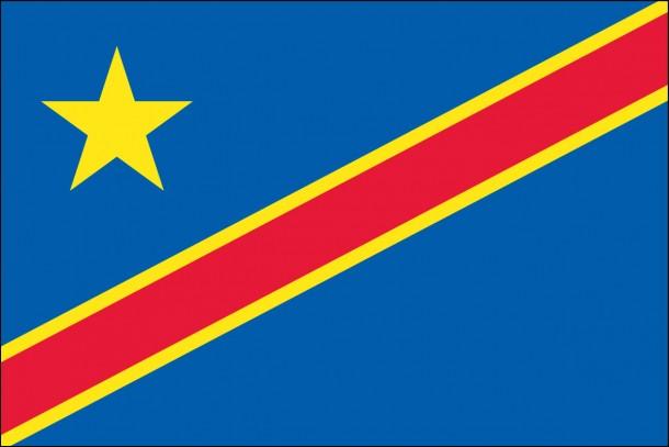 Bandera de la República Democrática del Congo bandera (4)