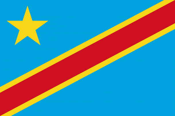 Bandera de la República Democrática del Congo bandera (2)