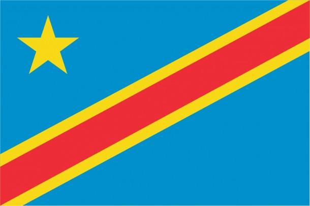 Bandera de la República Democrática del Congo (6)