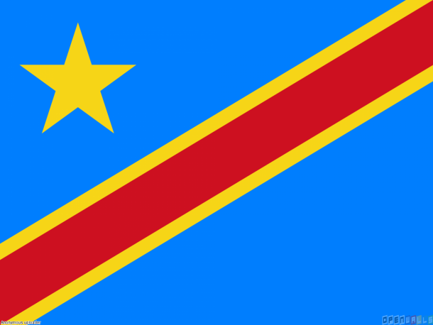 Bandera de la República Democrática del Congo bandera (13)