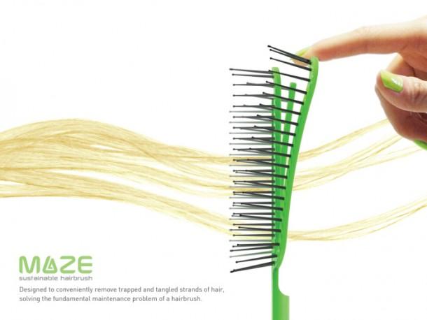 Maze Hairbrush hace que la limpieza sea un proceso de segundos 3