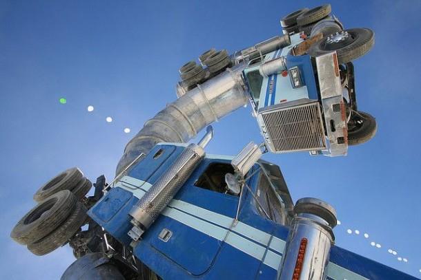 arte del camión de aceite