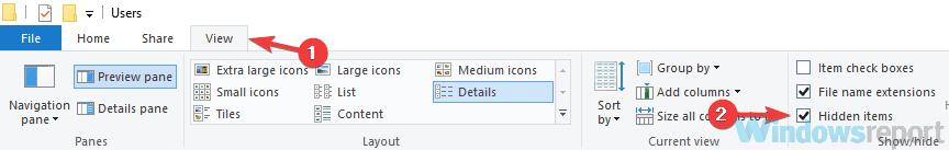 mostrar problemas de inicio de sesión de archivos ocultos