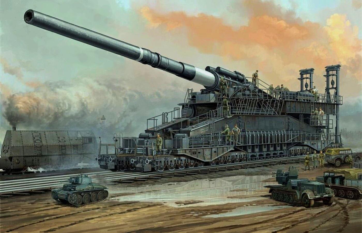 No creerás, pero los alemanes realmente construyeron y usaron este cañón monstruo en la Segunda Guerra Mundial