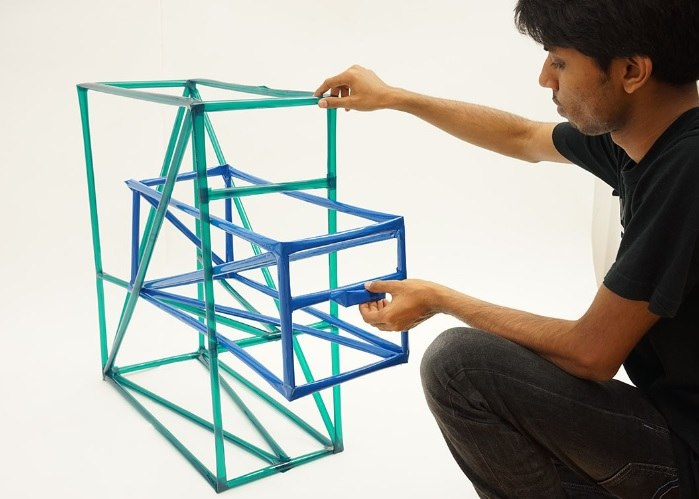 Modelo de estructura metálica de fotopiper