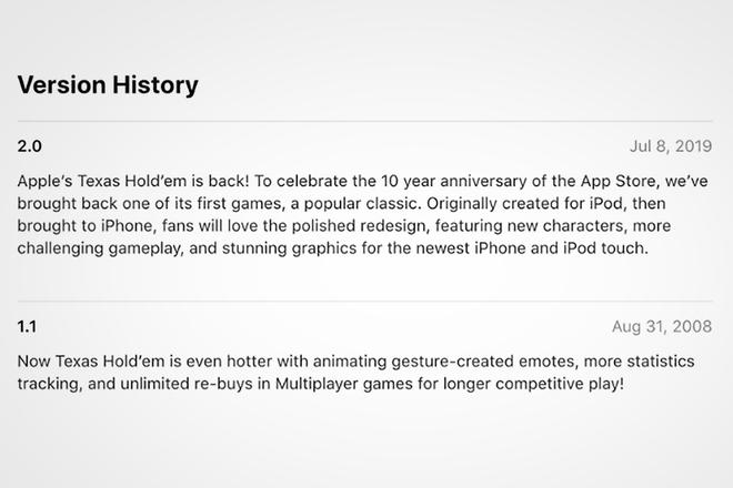 Aplicación Apple Apple Texas Holdem?  Vuelve con nuevas fotos y características 1