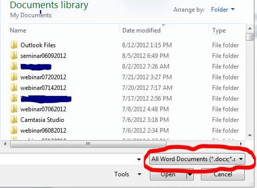 Archivo de WordPerfect