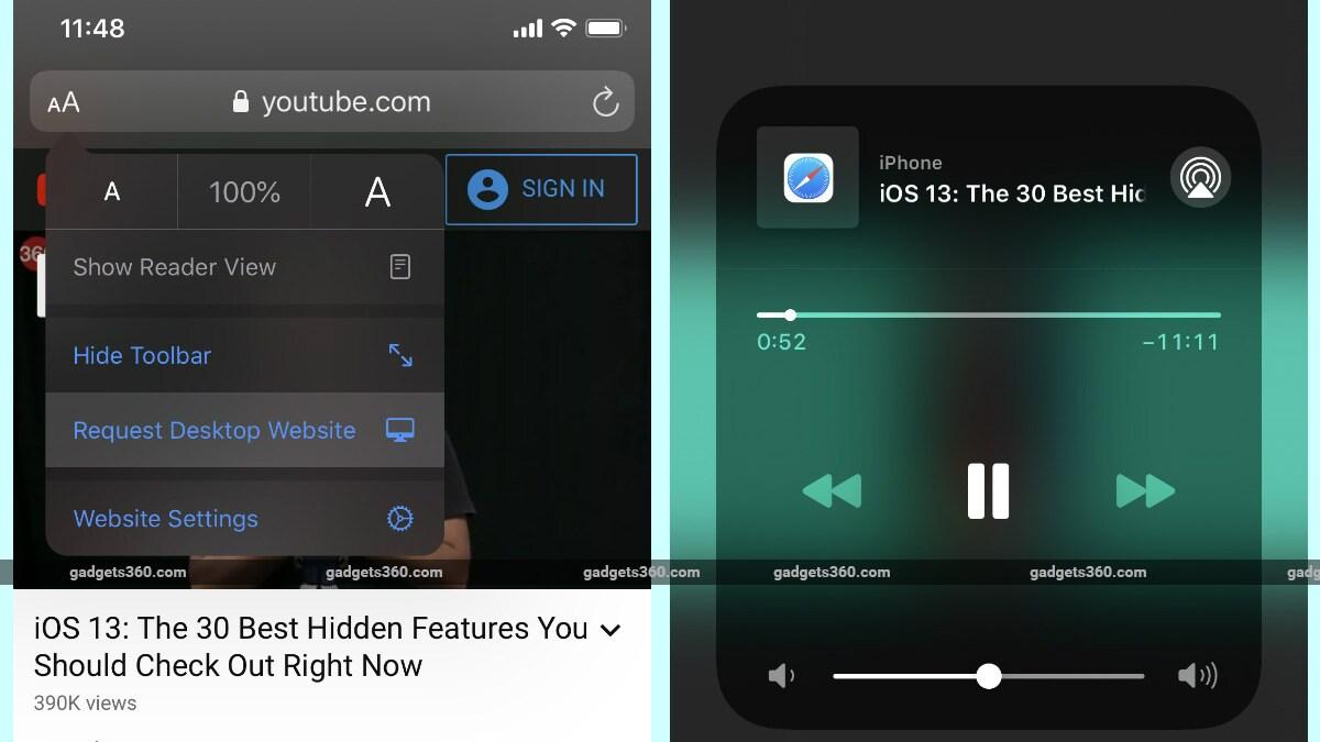 Parte inferior del fondo de pantalla de YouTube iOS YouTube iOS