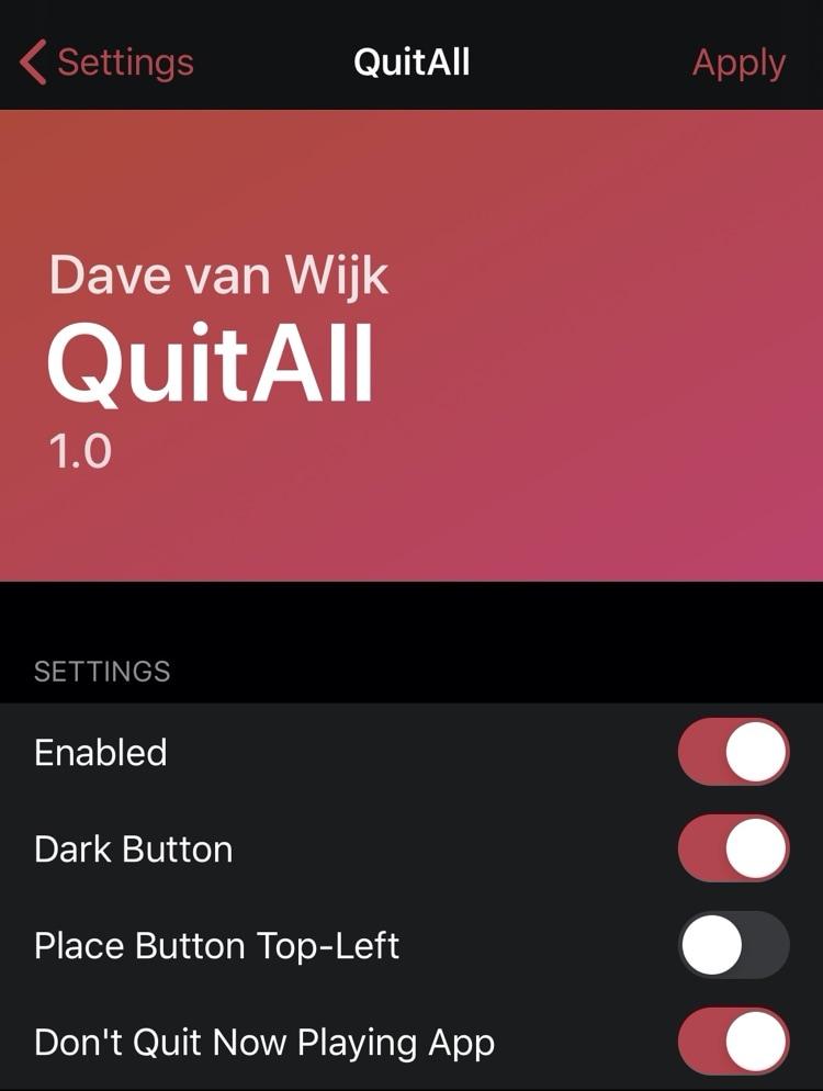 Con QuitAll, puede ejecutar todas las aplicaciones desde el conmutador de aplicaciones con un toque 3 cerrar