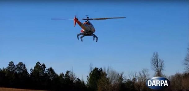 DARPA demuestra tren de aterrizaje robótico para helicópteros