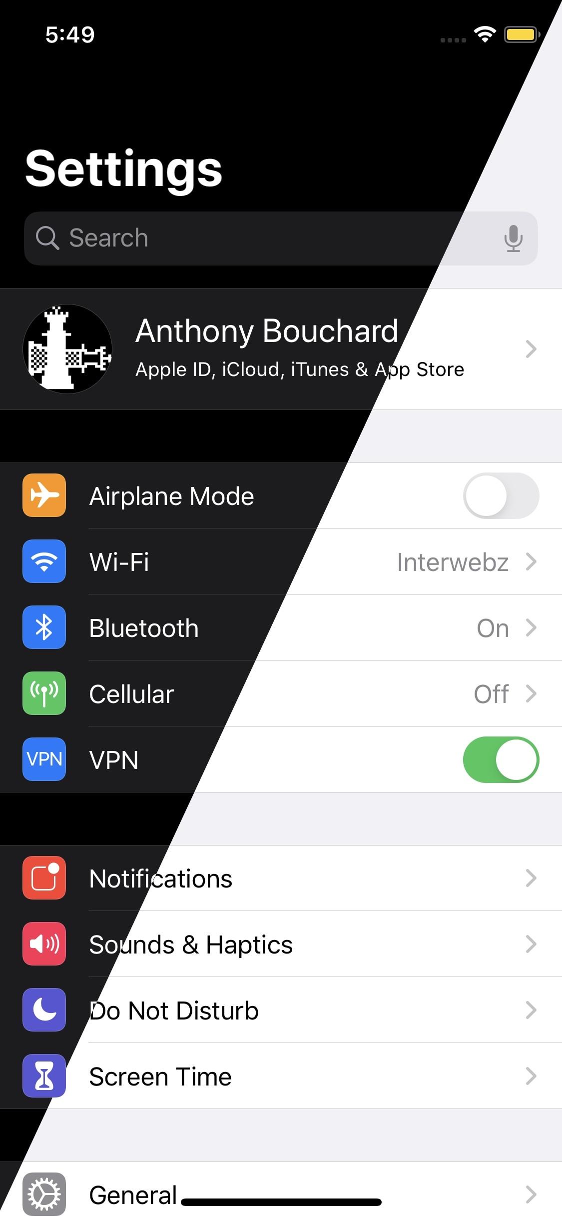 DarkSwitch controla los modos oscuro / claro de iOS en función del brillo de la pantalla 1