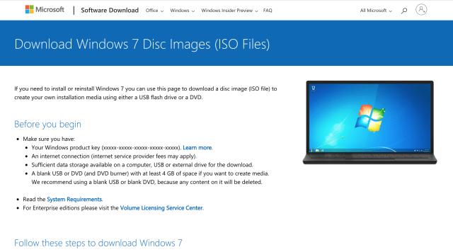 Descargar archivos de Windows-7-Disc-Images-ISO