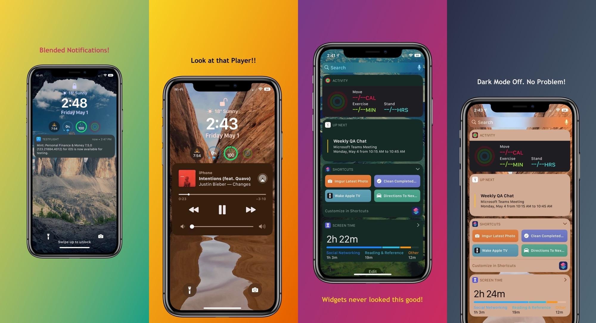 Dusky le permite utilizar el modo de reducción de transparencia de iOS para interfaces individuales 1