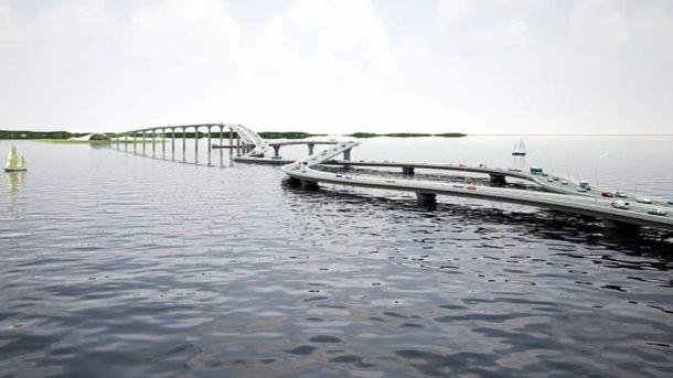 Puente sobre el collar del río Pearl Una solución retorcida a un curioso problema de tráfico_Imagen 4