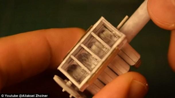 El motor Origami V8 que funciona 5