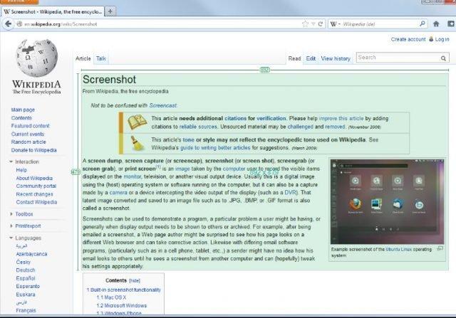 Greenshot, una aplicación para una rápida y fácil de captura de pantalla 1