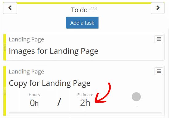 Kanban Boards para WordPress Plugin - Definir una tarea, estimaciones