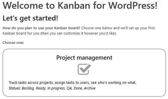 Tableros Kanban para WordPress Plugin - Tipos de Tablero Kanban