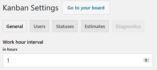 Kanban Boards para WordPress Plugin - Configuración, General
