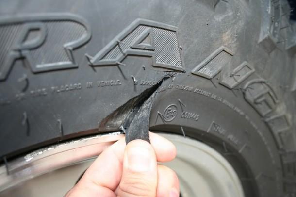 Cortar el neumático