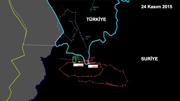 Avión ruso derribado por Turquía en vista de Sience