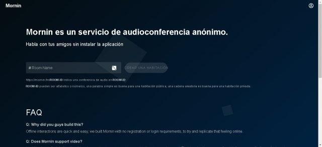 Mornin, un servicio de audioconferencia rápido, simple y gratuito 1