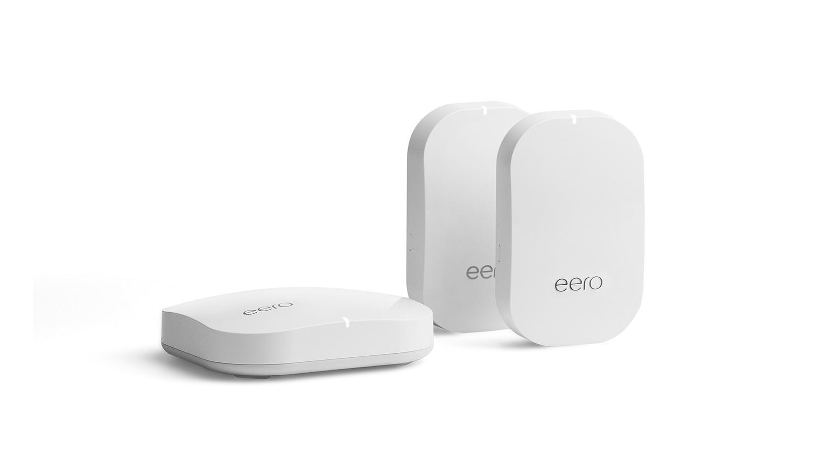 Posibles modelos para Google: enrutadores de tela Eero con bengalas