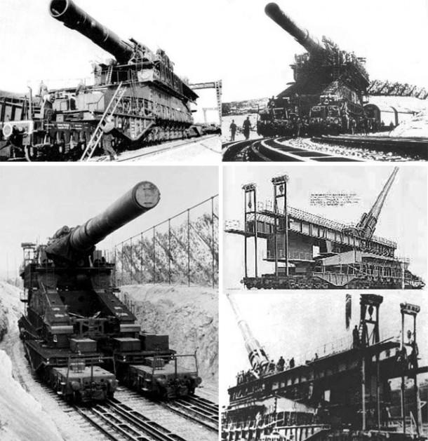 Segunda Guerra Mundial y grandes cañones