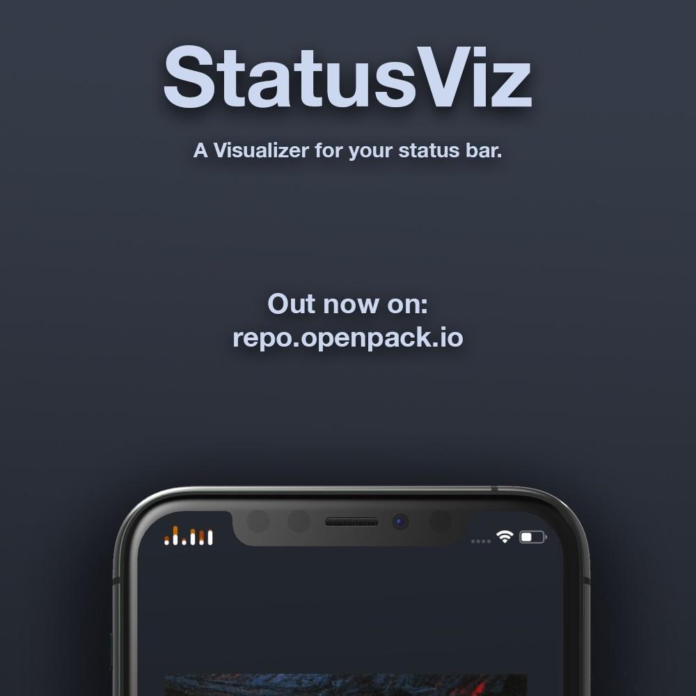 Obtenga un visor de audio único en su barra de estado con StatusViz 2