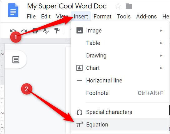Usando el Editor de fórmulas en Google Docs 1