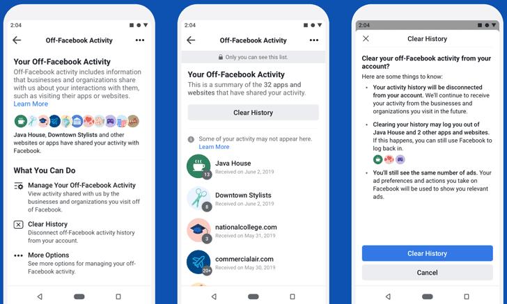 Fuera-Facebook-Excluir actividad