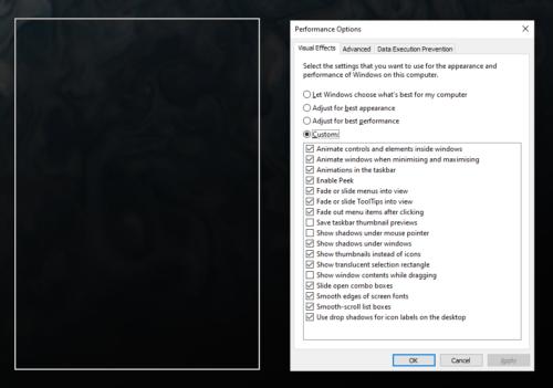 Windows 10: Ocultar / mostrar el contenido de la ventana mientras arrastra 2