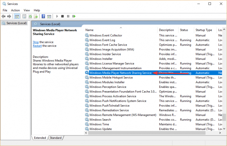 Windows Media Player Network Sharing Service Windows el reproductor multimedia no puede encontrar el archivo