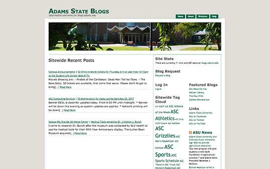 Universidad de estado de Adams