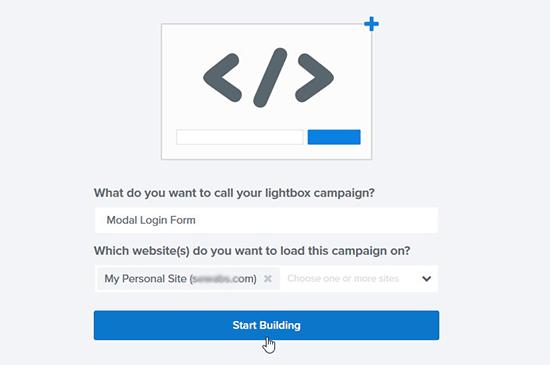Agregar nombre de campaña y sitio