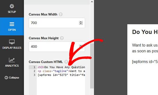 Thêm mã nhúng cho hình thức đăng nhập trong cửa sổ bật lên phương thức