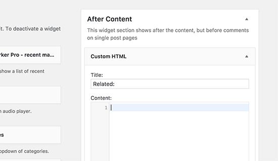 Agregar código de contenido coincidente aquí