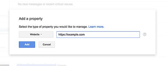 Thêm URL https của bạn